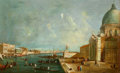 Fine Art - Painting, European:Antique  (Pre 1900), FROM THE FLANNER & BUCHANAN CORPORATE COLLECTION. Manner ofCANALETTO (Venetian, 1697-1768). Entrance to the GrandCanal...