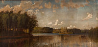 FROM THE FLANNER & BUCHANAN CORPORATE COLLECTION  D. JEROME ELWELL (American, 1857-1912) View Taken on th