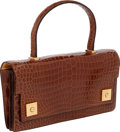 "Luxury Accessories:Bags, Hermes Shiny Miel Porosus Crocodile Piano Elan Bag, 10.5"" x 5.5"" x2"", Excellent Condition. ..."