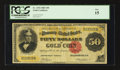 Large Size:Gold Certificates, Fr. 1194 $50 1882 Gold Certificate PCGS Fine 15.. ...
