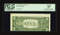 Error Notes:Skewed Reverse Printing, Fr. 1620 $1 1957A Silver Certificate. PCGS Gem New 65.. ...