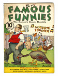 Platinum Age (1897-1937):Miscellaneous, Famous Funnies #40 (Eastern Color, 1937) Condition: VG/FN....