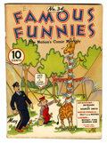 Platinum Age (1897-1937):Miscellaneous, Famous Funnies #34 (Eastern Color, 1937) Condition: FN....