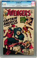 Entertainment Collectibles:Comic Character, Avengers #4 Twin Cities pedigree (Marvel, 1964) CGC Near Mint 9.4Off-white to white pages....