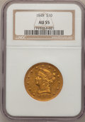 Liberty Eagles, 1848 $10 AU55 NGC....