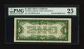 Error Notes:Inverted Reverses, Fr. 1606 $1 1934 Inverted Reverse Silver Certificate. PMG Very Fine25.. ...