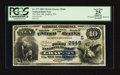 National Bank Notes:West Virginia, Grafton, WV - $10 1882 Value Back Fr. 577 The First NB Ch. #(S)2445. ...