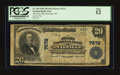 National Bank Notes:West Virginia, Pineville, WV - $20 1902 Plain Back Fr. 650 The First NB Ch. #7672. ...