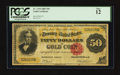 Large Size:Gold Certificates, Fr. 1194 $50 1882 Gold Certificate PCGS Fine 12.. ...
