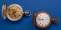 Timepieces:Pocket (post 1900), Two Rockford's 18 Size Hunter's Case One Coin Silver One Brass. ... (Total: 2 Items)