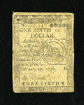 Colonial Notes:Continental Congress Issues, Continental Currency February 17, 1776 $1/6 Fine-Very Fine. Thedemand for Fugio fractional notes from this issue is seeing ...