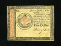Colonial Notes:Continental Congress Issues, Continental Currency January 14, 1779 $5 Choice New. A veryuncommonly seen lower denomination which was printed on the much...