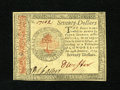 Colonial Notes:Continental Congress Issues, Continental Currency January 14, 1779 $70 Choice New. A splendidexample of this much scarcer high denomination note that ha...