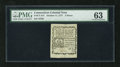Colonial Notes:Connecticut, Connecticut October 11, 1777 3d PMG Choice Uncirculated 63. From every angle this illustrious piece of Connecticut fiscal hi...