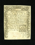 Colonial Notes:Connecticut, Connecticut March 1, 1780 5s CC Cancel Choice New. This is only thefourth example of this denomination that we have sold fr...