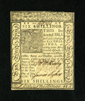 Colonial Notes:Delaware, Delaware January 1, 1776 6s Choice New. A lovely Delaware note from this more available issue that is a crisp and well signe...