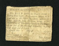 Colonial Notes:North Carolina, North Carolina 1756 - 1757 (written dates) £5 Good-Very Good. Thisquite scarce note has been backed by another note. No va...