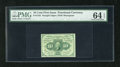 Fractional Currency:First Issue, Fr. 1242 10c First Issue PMG Choice Uncirculated 64EPQ. A lovely first issue type note that has exceptional color and wonder...