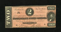 Confederate Notes:1864 Issues, T70 $2 1864. This is a nice example of the dark red variety for this Criswell number. Collector notations are pencilled on t...