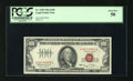 Small Size:Legal Tender Notes, Fr. 1550 $100 1966 Legal Tender Note. PCGS About New 50.. This embossed $100 with wide margins is adorned with serial number...