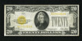 Small Size:Gold Certificates, Fr. 2402 $20 1928 Gold Certificate. Fine.. Nice edges and paper for the grade are noticed on this $20 Gold....
