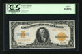 Large Size:Gold Certificates, Fr. 1173 $10 1922 Gold Certificate PCGS Gem New 65PPQ. This $10Gold is in a lofty state of preservation. It has retained it...