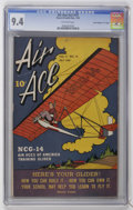 """Golden Age (1938-1955):War, Air Ace V2#10 Davis Crippen (""""D"""" Copy) pedigree (Street &Smith, 1945) CGC NM 9.4 Off-white pages...."""