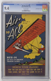 """Air Ace V2#10 Davis Crippen (""""D"""" Copy) pedigree (Street & Smith, 1945) CGC NM 9.4 Off-white pages"""