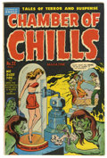 "Golden Age (1938-1955):Horror, Chamber of Chills #22 Davis Crippen (""D"" Copy) pedigree (Harvey,1954) Condition: FN...."