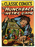 Golden Age (1938-1955):Classics Illustrated, Classic Comics #18 The Hunchback of Notre Dame - Original Edition1B(Gilberton, 1944) Condition: VG/FN....