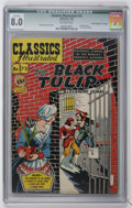 "Golden Age (1938-1955):Miscellaneous, Classics Illustrated #73 The Black Tulip - Davis Crippen (""D"" Copy) pedigree (Gilberton, 1950) CGC VF 8.0 Off-white pages...."