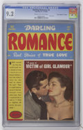 "Golden Age (1938-1955):Romance, Darling Romance #6 Davis Crippen (""D"" Copy) pedigree (MLJ , 1950)CGC NM- 9.2 Cream to off-white pages...."
