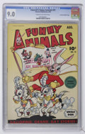 Golden Age (1938-1955):Funny Animal, Fawcett's Funny Animals #21 Crowley Copy/File Copy (Fawcett, 1944)CGC VF/NM 9.0 Cream to off-white pages....
