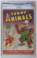 Golden Age (1938-1955):Funny Animal, Fawcett's Funny Animals #22 Crowley Copy pedigree (Fawcett, 1944)CGC NM 9.4 Cream to off-white pages....