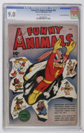 Golden Age (1938-1955):Funny Animal, Fawcett's Funny Animals #24 Crowley Copy/File Copy (Fawcett, 1944)CGC VF/NM 9.0 Cream to off-white pages....