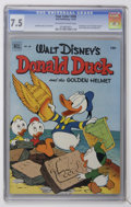 Golden Age (1938-1955):Funny Animal, Four Color #408 Donald Duck (Dell, 1952) CGC VF- 7.5 Off-white towhite pages....