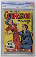 "Golden Age (1938-1955):Romance, Fox Giants All Great Confession - Davis Crippen (""D"" Copy) pedigree(Fox Features Syndicate, 1949) CGC FN 6.0 Off-white pages...."