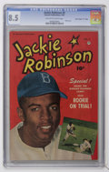 """Golden Age (1938-1955):Miscellaneous, Jackie Robinson #5 Davis Crippen (""""D"""" Copy) pedigree (Fawcett, 1951) CGC VF+ 8.5 Off-white to white pages...."""