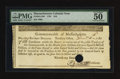 Colonial Notes:Massachusetts, Massachusetts 1781 $16 PMG About Uncirculated 50.. ...