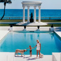 Photographs:Contemporary, SLIM AARONS (American, 1916-2006). Mrs. F.C. Winston Guest andSon, Villa Artemis, Palm Beach, 1955. Lambda chromogenic,...
