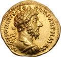 Ancients:Roman Imperial, Ancients: Marcus Aurelius. 161-180 AD. Aureus, 7.22g (12h). Rome, 167 AD. Obv: M ANTONINVS AVG - ARM PARTH MAX Bust laureate, cuirasse...