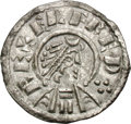 Ancients:World, Ancients: Saxon England. Wessex. Alfred the Great. 871-899 AD. Penny, 1.32g (3h). Canterbury. Obv: REX ELFRED Diademed bust of Alfred ...