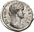 Ancients:Roman Imperial, Ancients: Diva Sabina. Died c. 137 AD. Denarius, 3.34g (6h). Rome. Obv: DIVA AVG - SABINA Bust veiled, draped right, wearing wreath of...