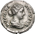 Ancients:Roman Imperial, Ancients: Lucilla, Wife of L. Verus. Denarius, 2.81g (12h). Rome.Obv: LVCILLA - AVGVSTA Bust draped right. Rx: CONCORDIA Concordiase...