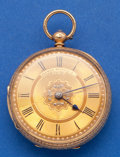 Timepieces:Pocket (pre 1900) , Alfred Russell 18k Gold Lever Fusee Pocket Watch. ...