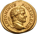 Ancients:Roman Imperial, Ancients: Caracalla. 198-217 AD. Aureus, 6.82g (1h). Rome, 212-3 AD. Obv: ANTONINVS - PIVS AVG BRIT Head laureate right. Rx: PROVDENTI...