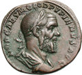 Ancients:Roman Imperial, Ancients: Pupienus. 238 AD. Sestertius, 19.28g (11h). Rome, 235-6AD. Obv: IMP CAES M CLOD PVPIENVS AVG Bust draped, cuirassed right....