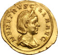 Ancients:Roman Imperial, Ancients: Herennia Etruscilla, Wife of Trajan Decius. Aureus, 4.00g (1h). Rome. Obv: HER ETRVSC[I]LLA AVG Bust draped right wearing st...