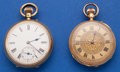 Timepieces:Pocket (post 1900), Two 18k Gold Pocket Watches. ... (Total: 2 Items)