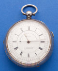 Timepieces:Pocket (pre 1900) , H. Samuel Manchester Sterling Center Seconds Key Wind Pocket Watch....